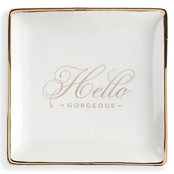 Glam Girl Fashion Other - NWT Jewelry Tray - White Ceramic w/Gold Trim, 5x5